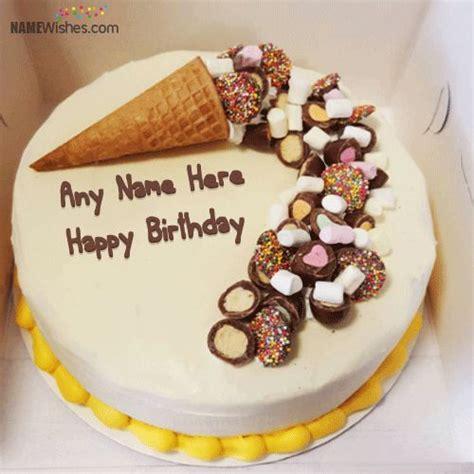 write   ice cream cake   awesomely hbd cake
