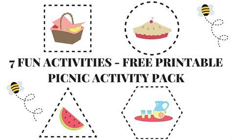 picnic printable preschool worksheet pack