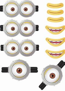 minion goggles mouths free printable despicable me 2 With minion eyes template