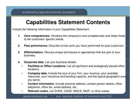 capabilities statements wa ptac