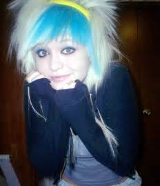 Emo Girl with White Hair