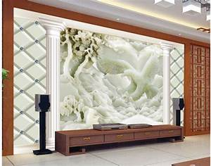 3d customized wallpaper Jade carving reliefs eagle photo ...