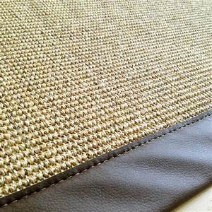tapis en sisal sur mesure ganse couleur naturel ganse With tapis en sisal