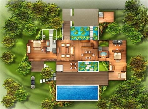 harmonious tropical style house plans from bali with tropical house plans from bali with