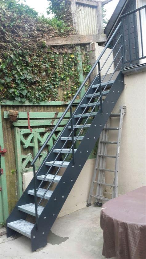 escalier ext 233 rieur en acier galvanis 233 pos 233 par echelle 14 echelle europ 233 enne