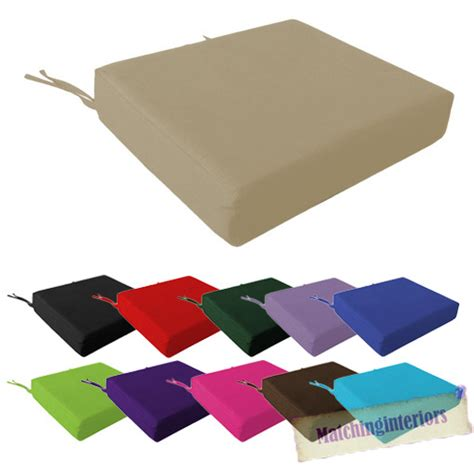 100 cotton cover square memory foam floor seat pad