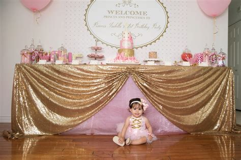 gorgeous pink gold 1st birthday party susy martinez