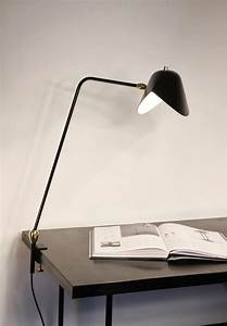 Lampe D Architecte : lampe d 39 architecte agraf e 2 rotules base tau 1957 noir serge mouille ~ Teatrodelosmanantiales.com Idées de Décoration