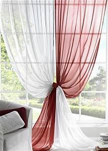 Rideau Rouge Et Blanc : le rideau voilage dans 41 photos ~ Dailycaller-alerts.com Idées de Décoration