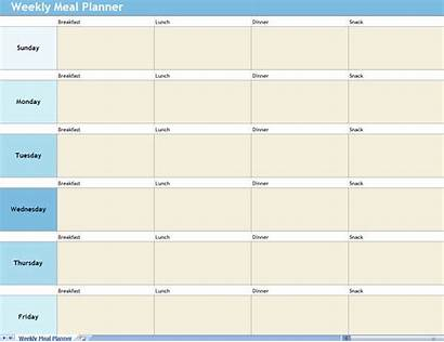 Meal Planner Weekly Template Excel Plan Planning