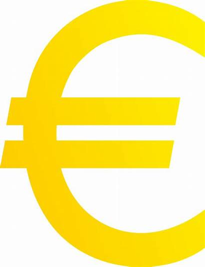 Euro Sign Clipart Symbol Currency Clip Golden