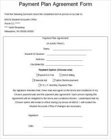 Payment Plan Agreement Form Template