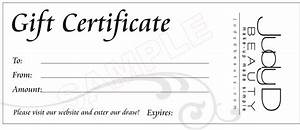 18 gift certificate templates excel pdf formats With free beauty gift voucher template