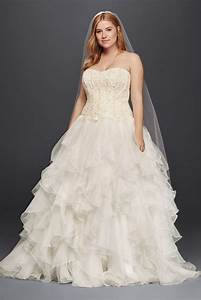 oleg cassini organza ruffle skirt wedding dress style With organza ruffle wedding dress