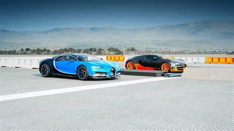 2018 Bugatti Chiron Vs Bugatti Veyron Super Sport Drag