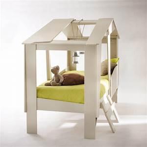 Cabane Lit Enfant : cadre de lit cabane enfant en bois avec sommier drawer ~ Melissatoandfro.com Idées de Décoration