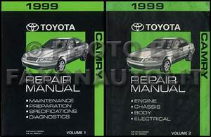 1999 Toyota Camry Repair Shop Manual 2 Volume Set Original