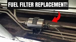 How To Replace A Fuel Filter On A Gmc Sierra  U0026 Chevy