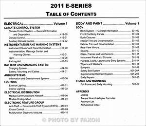 2011 Ford Econoline Repair Shop Manual Original Set E150
