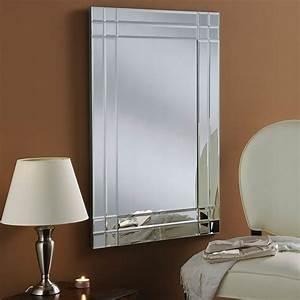 Modern, Bevelled, Silver, Mirror