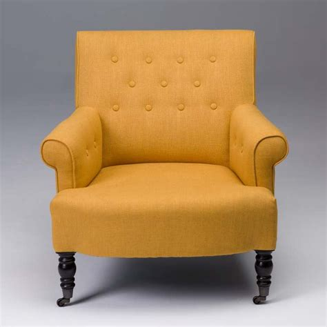 tufted furniture yellow accent chairs beige accent
