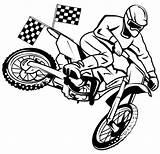 Dirt Coloring Bike Moto Cross Racing Rider Vector Boys Shutterstock sketch template