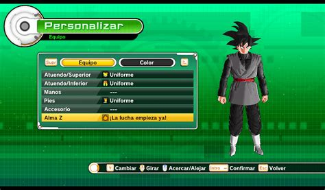 New version black goku outfit for cac (models by gamerlivegaming) | Xenoverse Mods