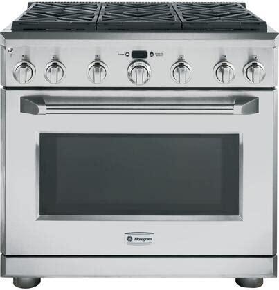 ge monogram zdpnpss   stainless steel dual fuel freestanding range  sealed burner
