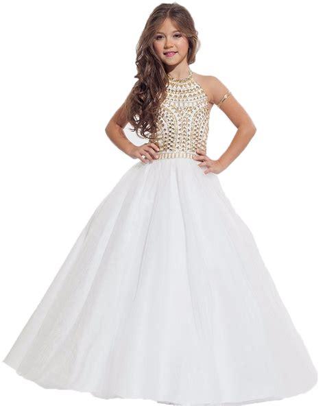 top quality flower girl dresses  weddings halter