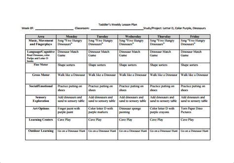 Blank Unit Lesson Plan Template