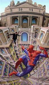 Spiderman street art by Kurt Wenner
