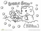 Coloring Bubble Bath Hygiene Pages Washing Hand Personal Worksheets Printable Bubbles Activities Hands Many Drawing Worksheet Healthy Sheet Printables Preschool sketch template