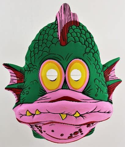 Walmart.com has been visited by 1m+ users in the past month Vintage Topstone Fish Swamp Monster Halloween Mask 80's Swamp Creature