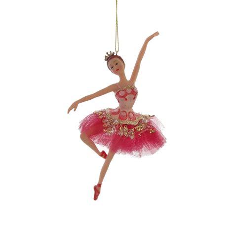 Ballerina Tree Decoration - gisela graham fuchsia pink leaping princess ballerina