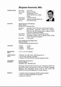 9 english resume format download penn working papers With english cv template