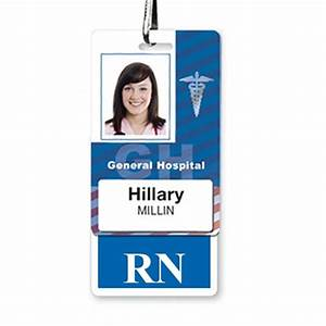 quotrnquot registered nurse hospital id badge buddy and more With hospital id badge template