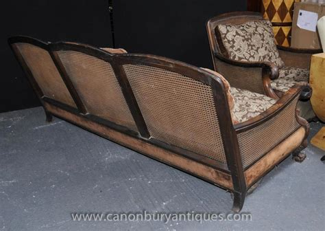antique bergere sofa arm chair suite chairs