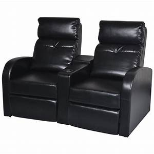 artificial leather home cinema recliner reclining sofa 2 With leather sectional sofa with 2 recliners