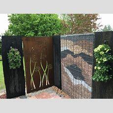 Sichtschutz Für Den Garten  Schieferstelen, Cortenstahl