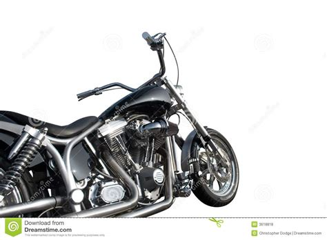 Black And Chrome Motorcycle Stock Photo