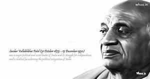 Sardar Vallabhbhai Patel Face Closeup With Quote Images