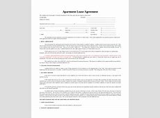 Apartment Lease Agreement 9+ Free PDF, Word Download