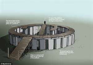 stonehenge supported  wooden platform   closer