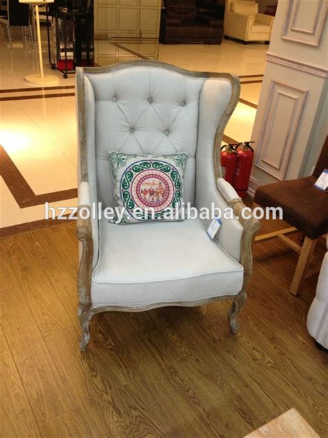 living room furniture high back chair winged back armchair