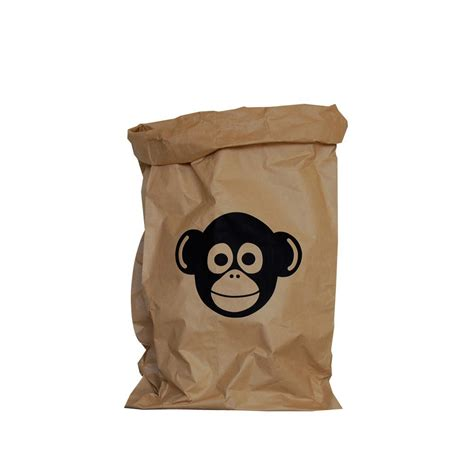 sac de rangement enfant sac de rangement kolor singe naturel adonde design enfant