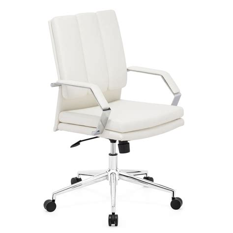 shop zuo modern director pro white faux leather task