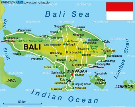 map  bali indonesia bali   bali indonesie