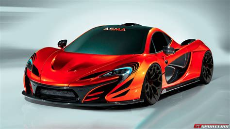 mclaren p black  red wallpaper