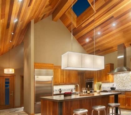 vaulted ceiling kitchen lighting ideas led panel light fixtures modern and efficient home 8800