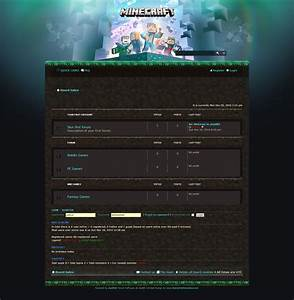 Php Forum Templates Free Download Minecraft Coders Forum Skin